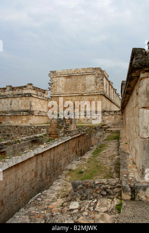 El Adivino, East Building, Uxmal Archeological Site, Yucatan Peninsular, Mexico. - Stock Image