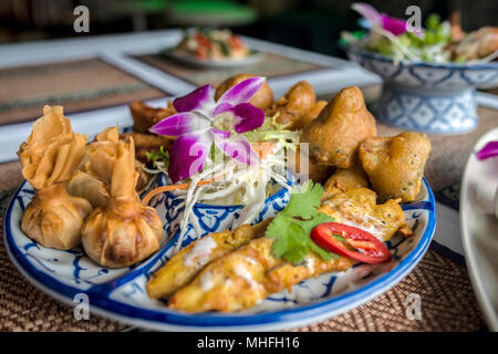 Thai Food in a Restaurant - Stock Image