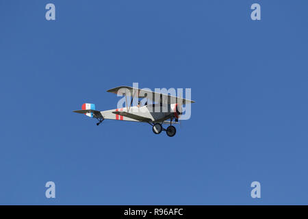 NIEUPORT 12 airplane replica. N8612. World War 1 Dawn Patrol Anniversary Rendezvous event. The National Museum of the United States Air Force, Wright  - Stock Image