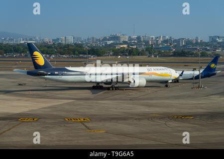 Grounded Jet Airways, Mumbai, India - Stock Image