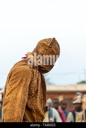 Boloye dance of the panther man in the Senufo community, Savanes district, Waraniene, Ivory Coast - Stock Image