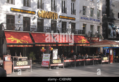 Chiquito restaurant bar Leicester Square London - Stock Image