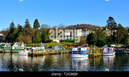 Bowness on Windermere,Lake Windrmere,Lake District,Cumbria,England,UK - Stock Image