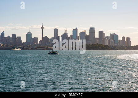 A view toward the Sydney skyline. - Stock Image