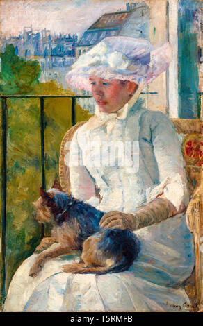 Mary Cassatt, Young Girl at a Window, painting, c. 1883-1884 - Stock Image