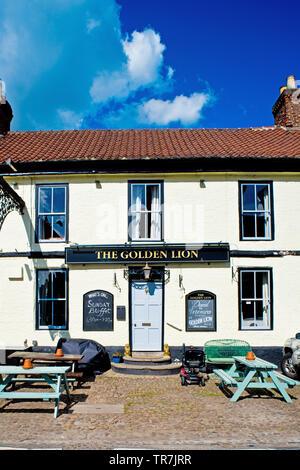The Golden Lion Inn, Helperby, North Yorkshire, England - Stock Image