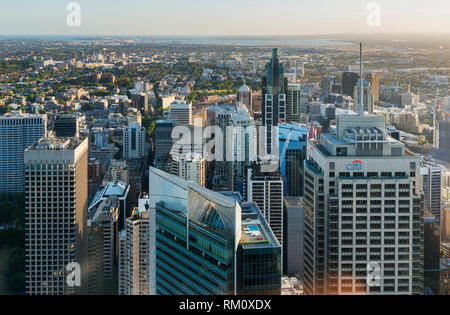An aerial view of Sydney. - Stock Image