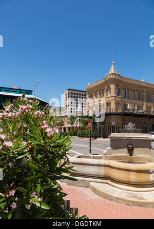 Fountain in Galveston Historic District Texas USA - Stock Image