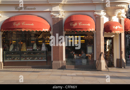 Caffe Concerto Shaftesbury Avenue London - Stock Image