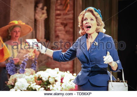 Royal Festival Hall, London, UK, 12th June 2019. Renée Fleming as Margaret Johnson.Tony Award Winning romantic musical 'The Light in the Piazza' will be making its London premiere at the Royal Festival Hall on Wednesday 12th June and will run 14th June to 5th July. It stars soprano superstar Renée Fleming and Dove Cameron, star of Disney's 'The Descendants', as well as Alex Jennings, Rob Houchen, Celinde Schoenmaker and many others. Credit: Imageplotter/Alamy Live News - Stock Image