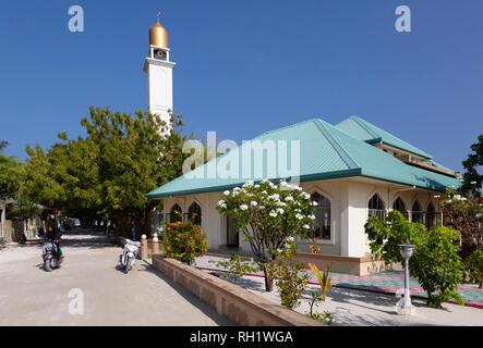 Maldives Mosque - the mosque on Ukulhas Island, Alif Alif atoll, the Maldives, Asia - Stock Image