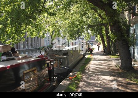 Regent's Canal Kings Cross London - Stock Image