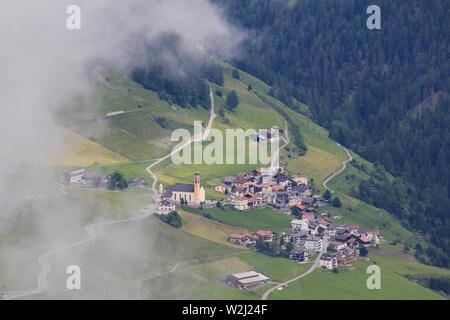 Zorten, village in the Canton of Grisons, Switzerland. - Stock Image