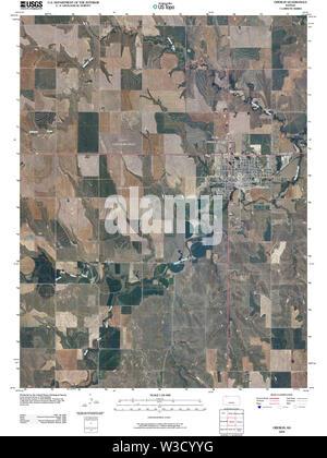 USGS TOPO Map Kansas KS Oberlin 20091126 TM Restoration - Stock Image