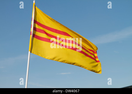 Former South Vietnamese flag - Stock Image