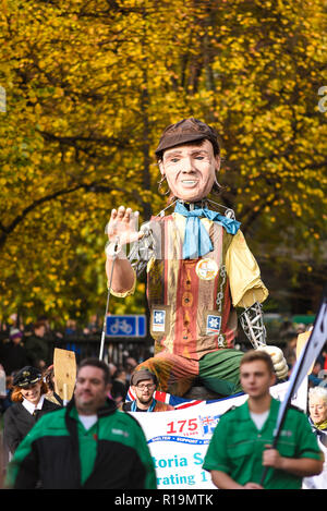 Queen Victoria Seamen's Rest figure in the Lord Mayor's Show Parade - Stock Image