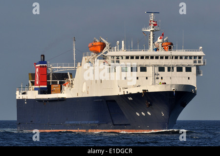 Ferry Ask inbound Travemuende - Stock Image