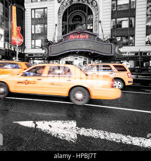Hard Rock Cafe at Times Square ,  New York City, USA - Stock Image