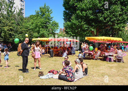 Fun Day at Fortune Street Park, Fortune Street, Barbican, City of London, Greater London, England, United Kingdom - Stock Image