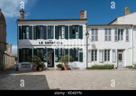 Ars-en-Re, Hotel Senechal, Ile de Re, Nouvelle-Aquitaine, french westcoast, france, - Stock Image
