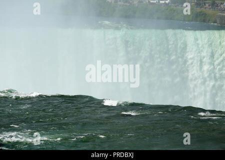 Closeup shot of Niagara Falls from New York State, USA. - Stock Image