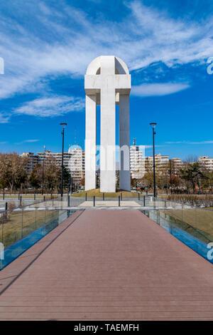 ALBA IULIA, ROMANIA - February 28, 2019: Monument of the Great Union in Alba Iulia, Romania. - Stock Image