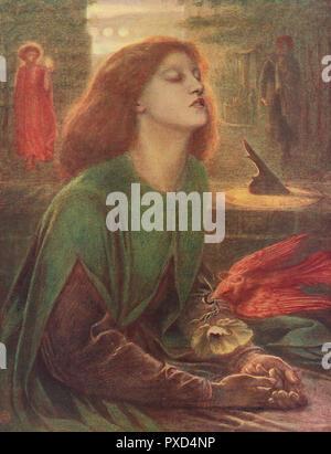 Beata Beatrix, by Dante Gabriel Rossetti (1828-1882). - Stock Image