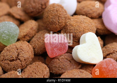 Macro shot of Saint Nicholas candy - Stock Image