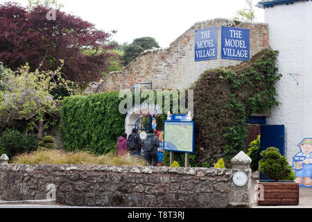 Exterior shot of the Model Village, Godshill, Isle of Wight - Stock Image