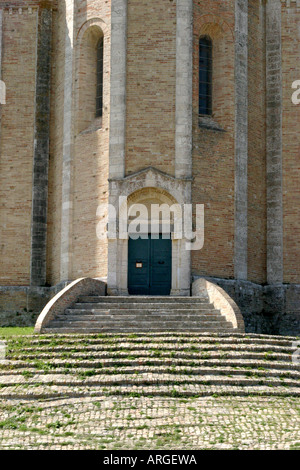 Famous historic Church of Santa Maria del Roche at Offida in Le Marche ,Italy - Stock Image