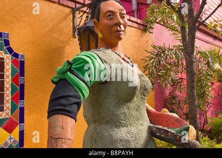 Historic Market Square San Antonio Texas tx statue sculpture Mexican woman peasant costume outdoor decoration art - Stock Image