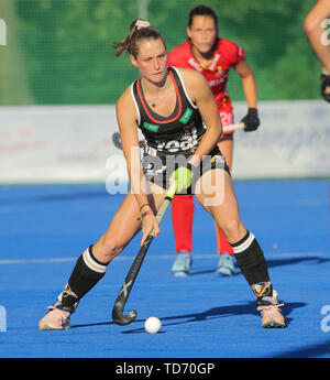 Krefeld, Germany, June 12 2019, Hockey, FIH Pro League, women, Germany vs. Belgium: Cecile Pieper (Germany) in action. - Stock Image