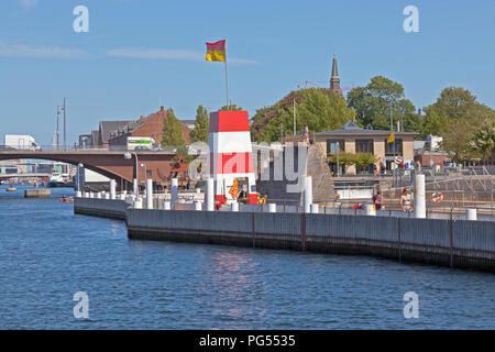 The Copenhagen Harbour Bath at Islands Brygge in the inner harbour of Copenhagen on a warm and  sunny summer day seen from the main harbour canal. - Stock Image