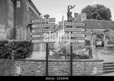 Sign posts in Normandy - Stock Image