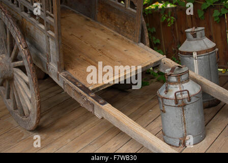 Hand Pulled Delivery Cart - Southeast Asia - Stock Image