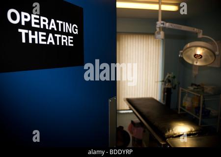 Operating Theatre with Door Open - Stock Image