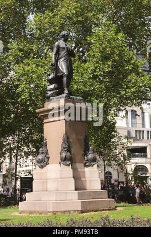 Sir James Outram statue Whitehall Gardens London - Stock Image