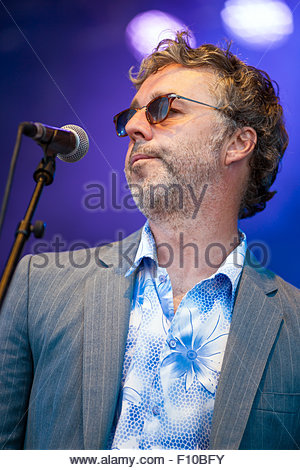 Baxter Dury performing live - Stock Image