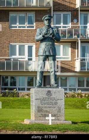 Memorial,to,Merchant Navy,Seamen,World War 2,1939 to 1945,Dover Seafront,Dover,Kent,England - Stock Image