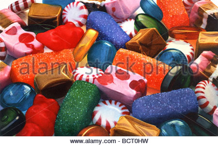 Candy Medley - Stock Image