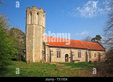 A view of the redundant Church of St Nicholas at Buckenham, Norfolk, England, United Kingdom, Europe. - Stock Image
