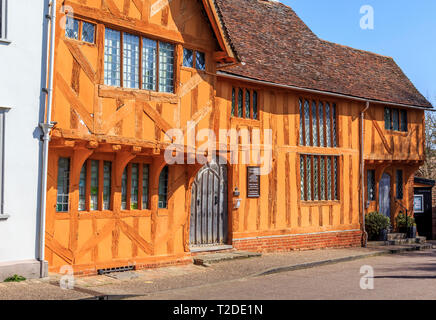 The Little Hall Museum, Lavenham Town Centre, Suffolk, England, UK, GB - Stock Image