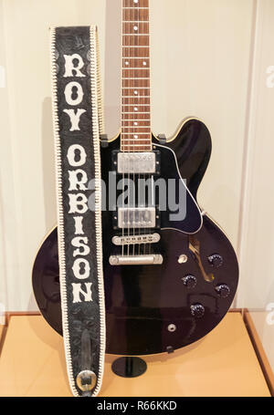 Roy Orbison guitar at the Musical Instrument Museum, Phoenix, Arizona, USA - Stock Image