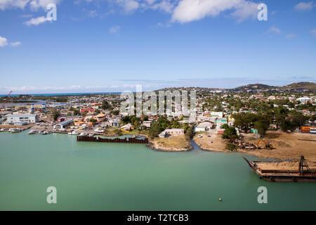 A view over Saint John's, Capital of Antigua and Barbuda - Stock Image