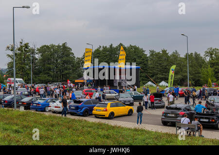 Bielsko-Biala, Poland. 12th Aug, 2017. International automotive trade fairs - MotoShow Bielsko-Biala. Credit: Lukasz Obermann/Alamy Live News - Stock Image