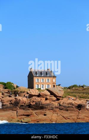 Gustave Eiffel House, Ploumanach, Cotes d'Armor, Brittany, France. - Stock Image