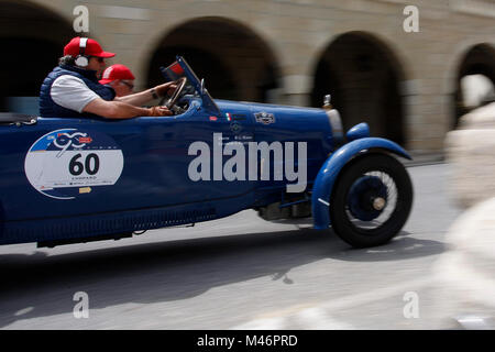 San Marino, Italy. 19th, May 2017.  Crew composed by Bruno Marini and Gianfranco Fratus from Italy with their model - Stock Image