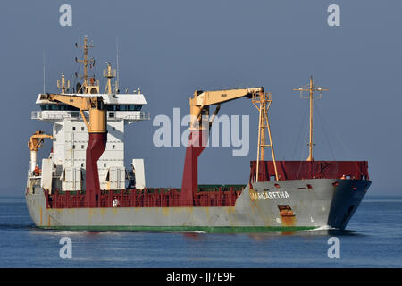General Cargo Ship Magaretha - Stock Image