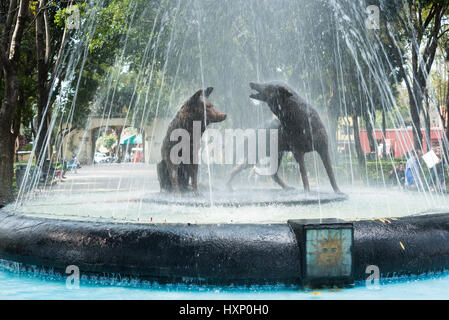 Coyoacan, Mexico City, December 2016. - Stock Image