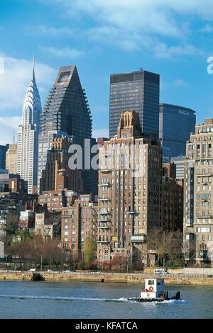 UNITED STATES OF AMERICA NEW YORK NEW YORK MANHATTAN DISTRICT OF TURTLE BAY East River - Stock Image